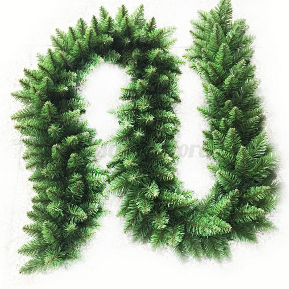 2.7m Long Green Christmas Garland Pine Wreath Xmas Fireplace Tree ...