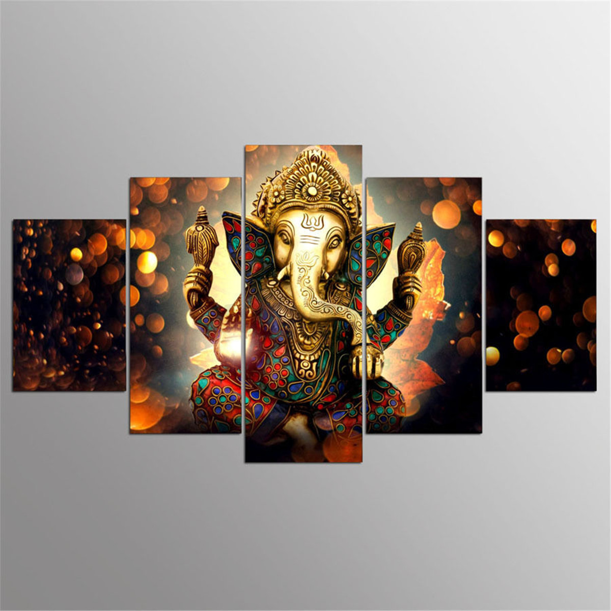 5pcs ganesha elk canvas painting print modern wall art poster home wall decor ebay. Black Bedroom Furniture Sets. Home Design Ideas