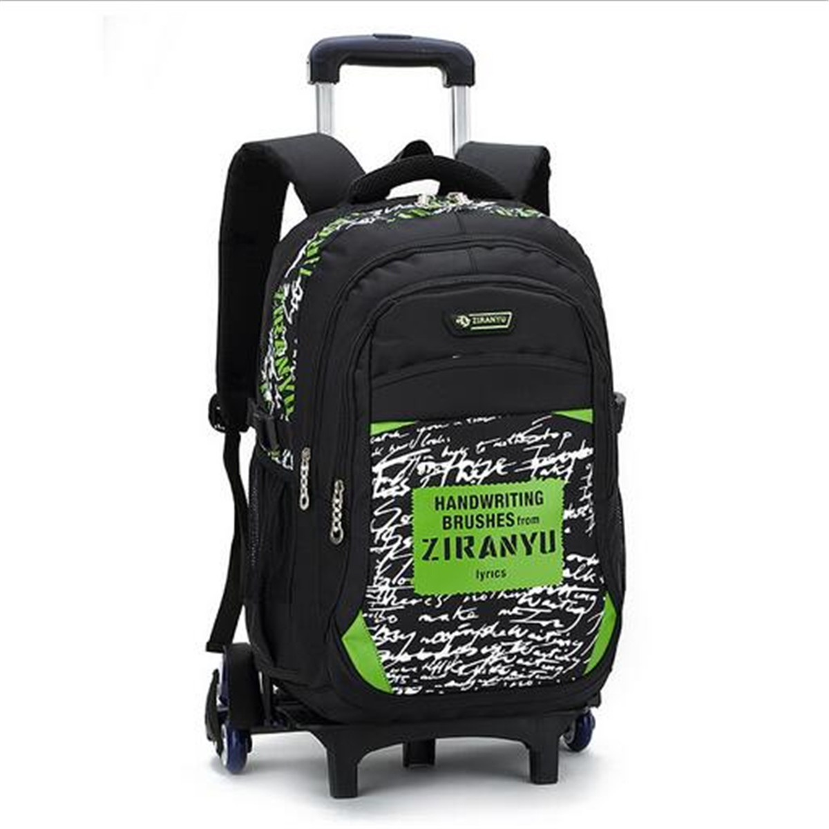 Children Kids Trolley Backpack School Bags With 6