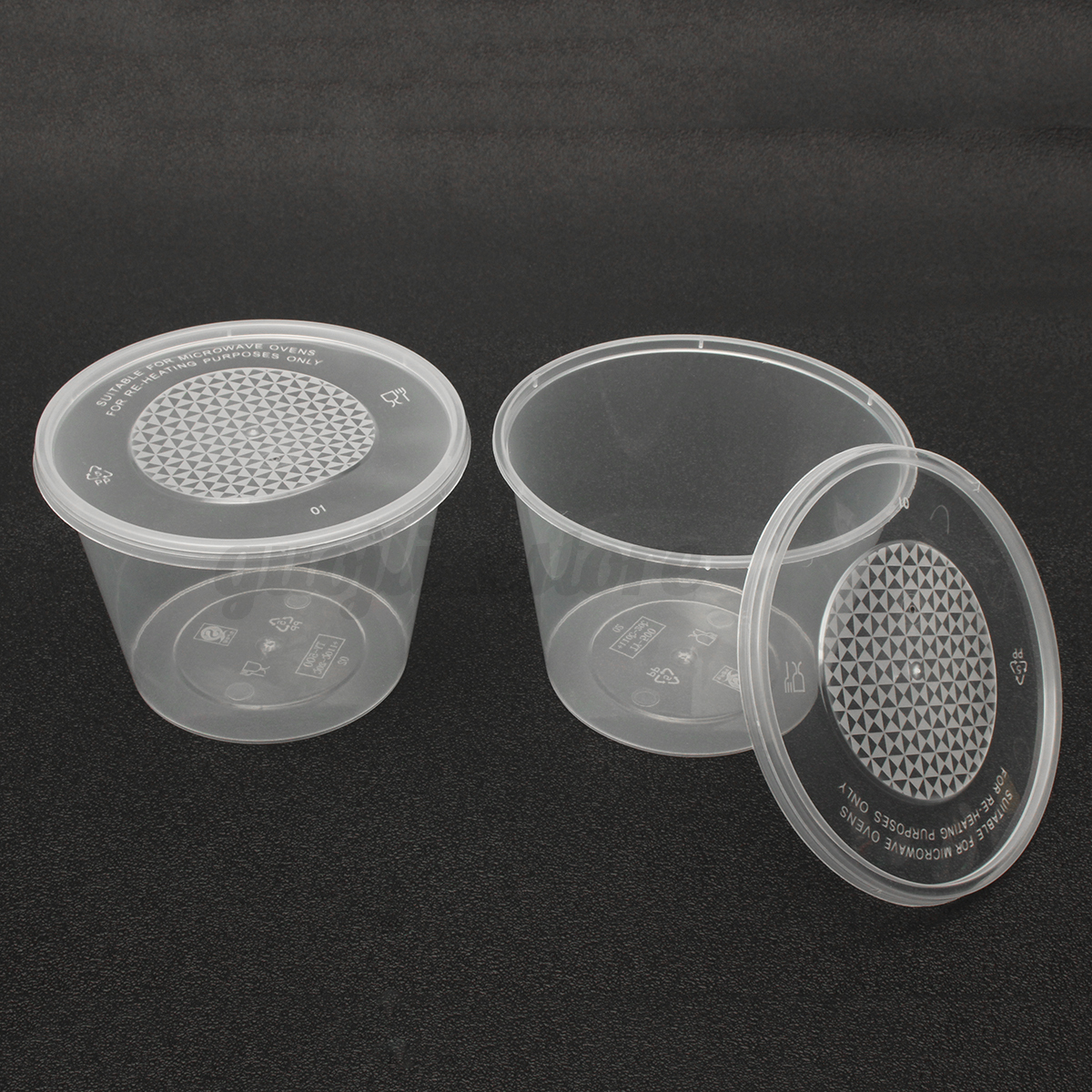 Plastic Cups With Lids : Pc ml disposable plastic clear cups with flat lids