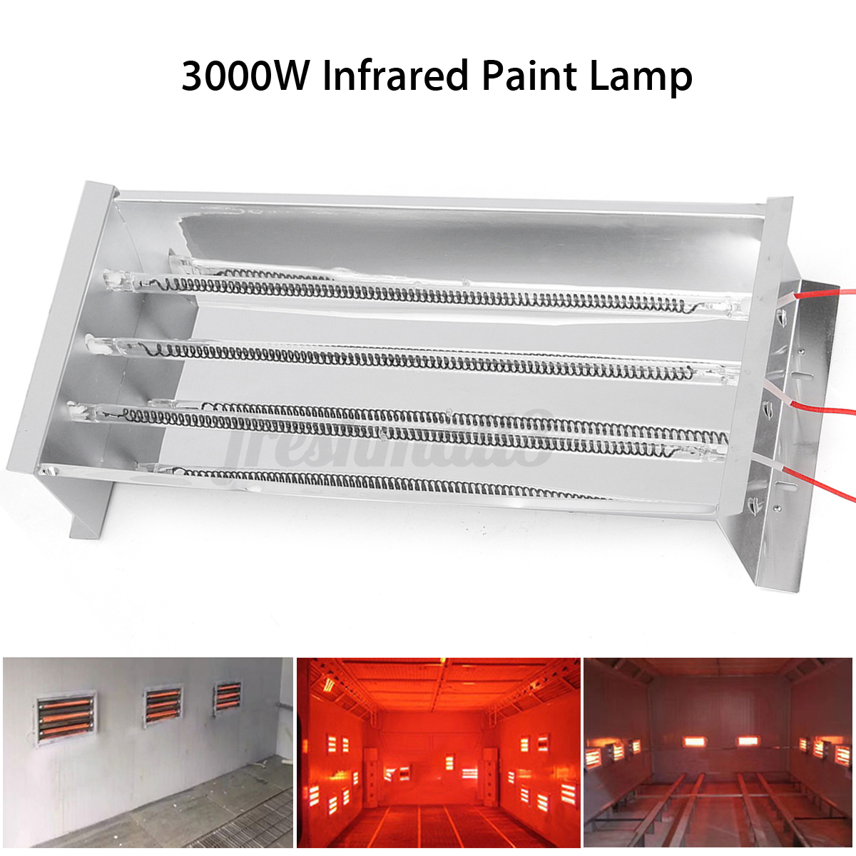 3000w Spray Baking Booth Infrared Paint Curing Heater Lamp