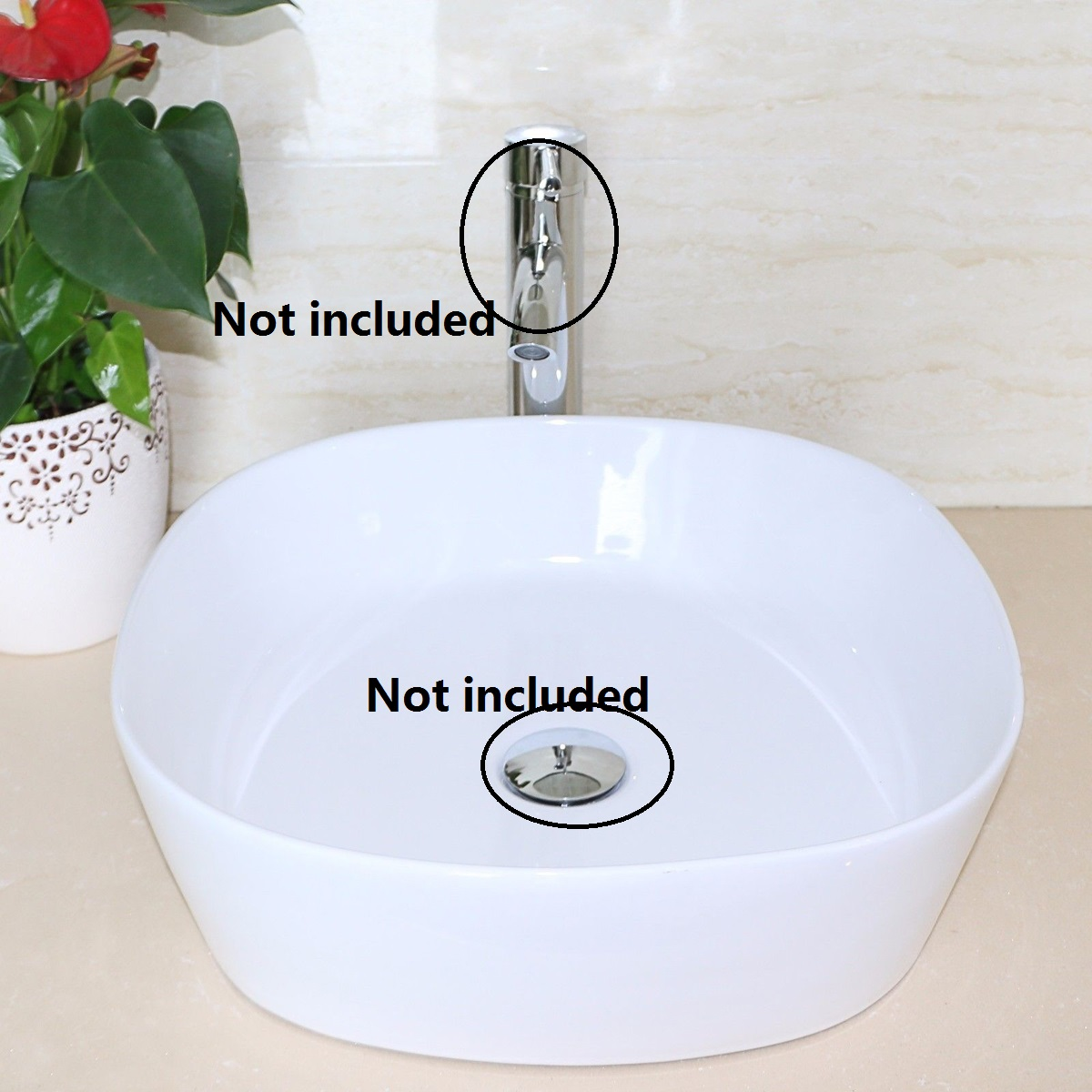 Bathroom-Cloakroom-White-Oval-Ceramic-Basin-Sink-Bowl-Wash-Counter-Top-W-Waste
