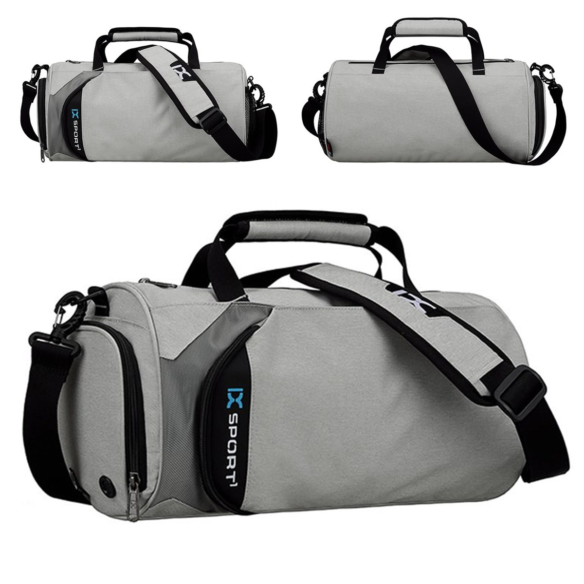 0aaf1081cee4 Details about Men Waterproof Nylon Fitness Holdall Sport Gym Bag Travel  Duffel Luggage Bags