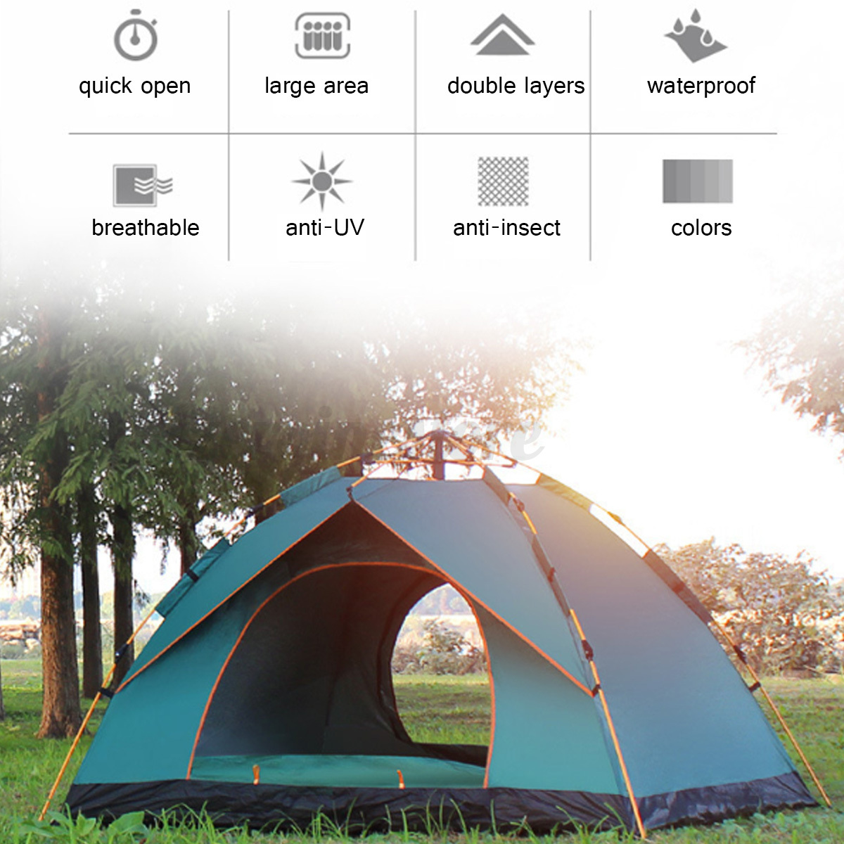 Automatic-3-4-Man-Person-Family-Tent-Camping-Anti-UV-Waterproof-Shelter-Hiking thumbnail 5