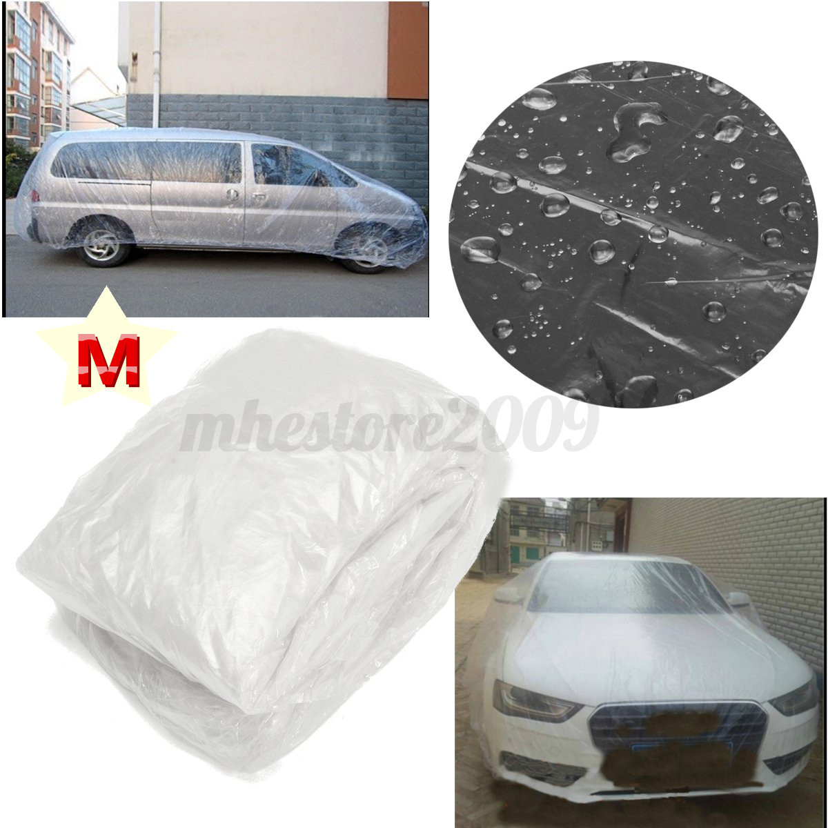 How To Make Money To Travel Temping: Clear Plastic Temporary Disposable Universal SUV Car Cover