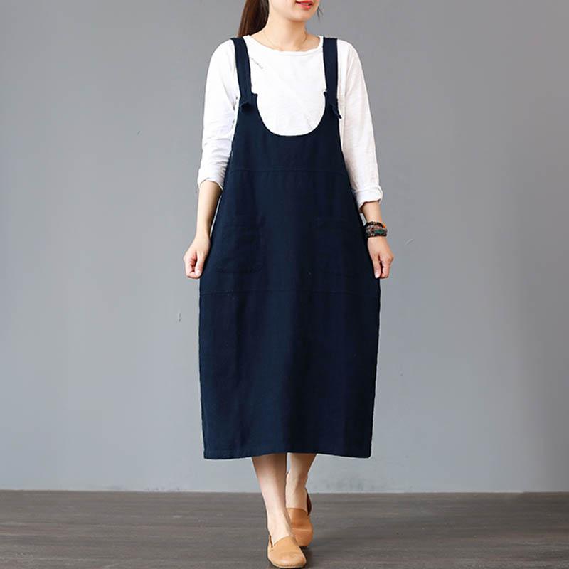 ZANZEA-8-24-Women-Casual-Sleeveless-Overalls-Skirt-Kaftan-Plus-Size-Cotton-Dress