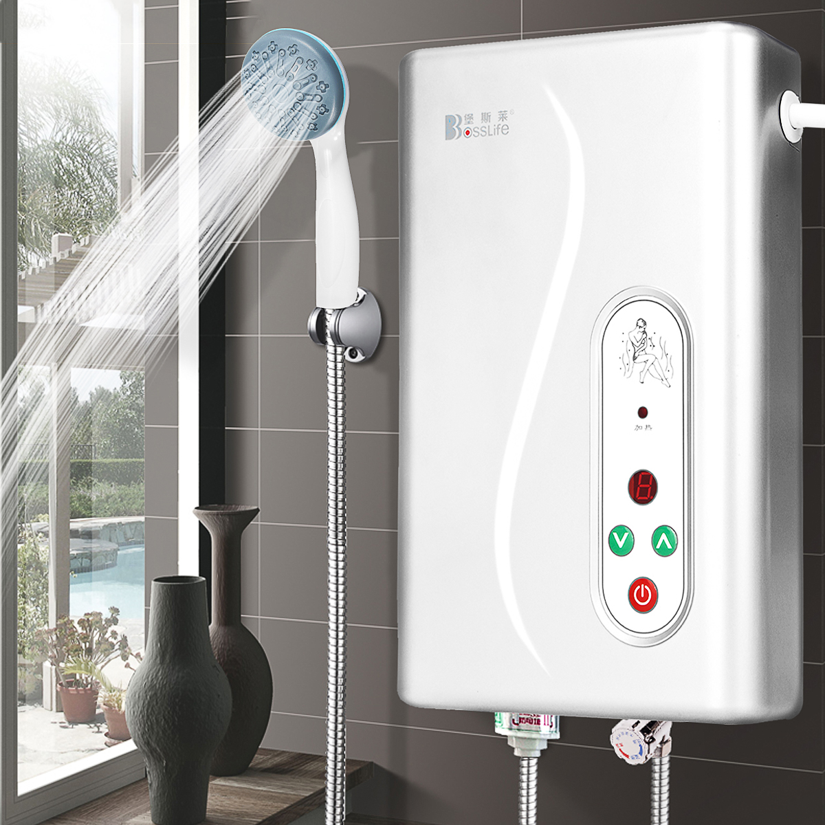 Instant Electric Water Heater Tankless Shower Caravan