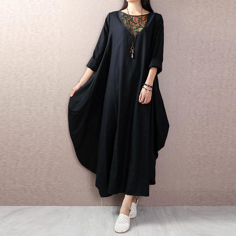 UK10-24-Women-Floral-Long-Sleeve-Tunic-Baggy-Casual-Loose-Long-Maxi-Dress-Kaftan
