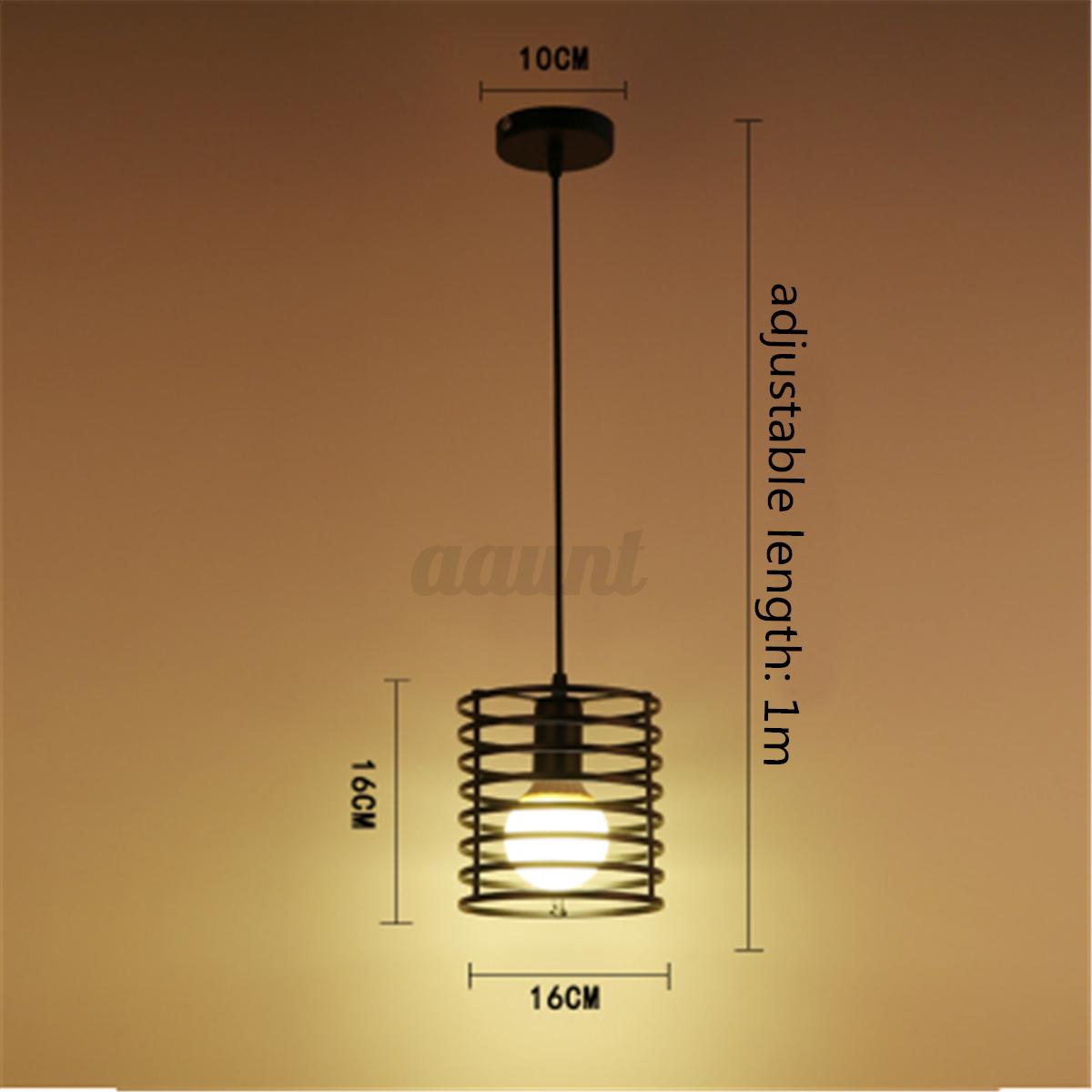 E27 Industrial Vintage Chandelier Ceiling Light Pendant
