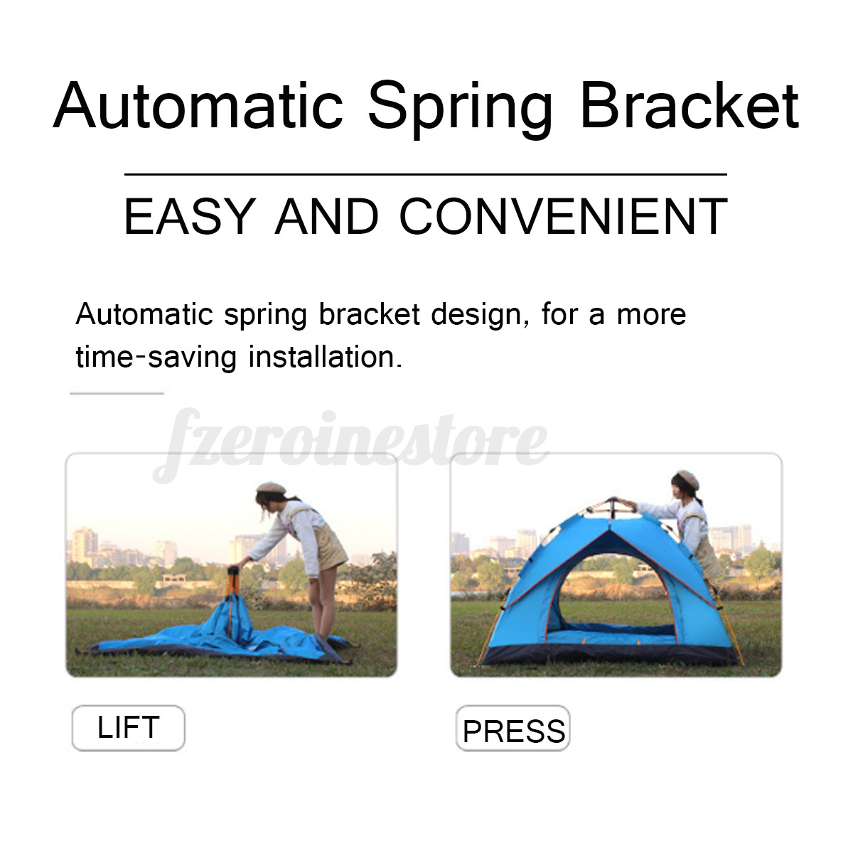 Automatic-3-4-Man-Person-Family-Tent-Camping-Anti-UV-Waterproof-Shelter-Hiking thumbnail 7