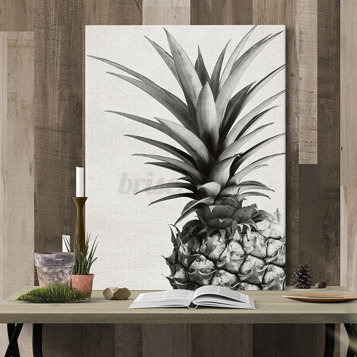 Unframed Bedroom Wall Art Decor Canvas Painting Pineapple Picture