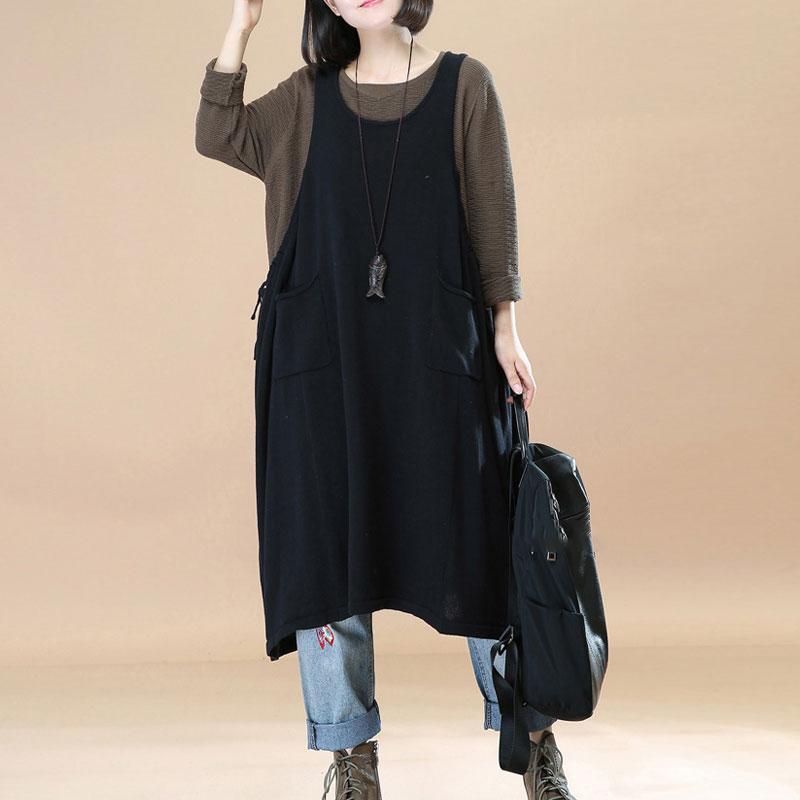 Women-A-Line-Midi-Sundress-Flare-Plus-Size-Sleeveless-Dungarees-Overalls-Dress