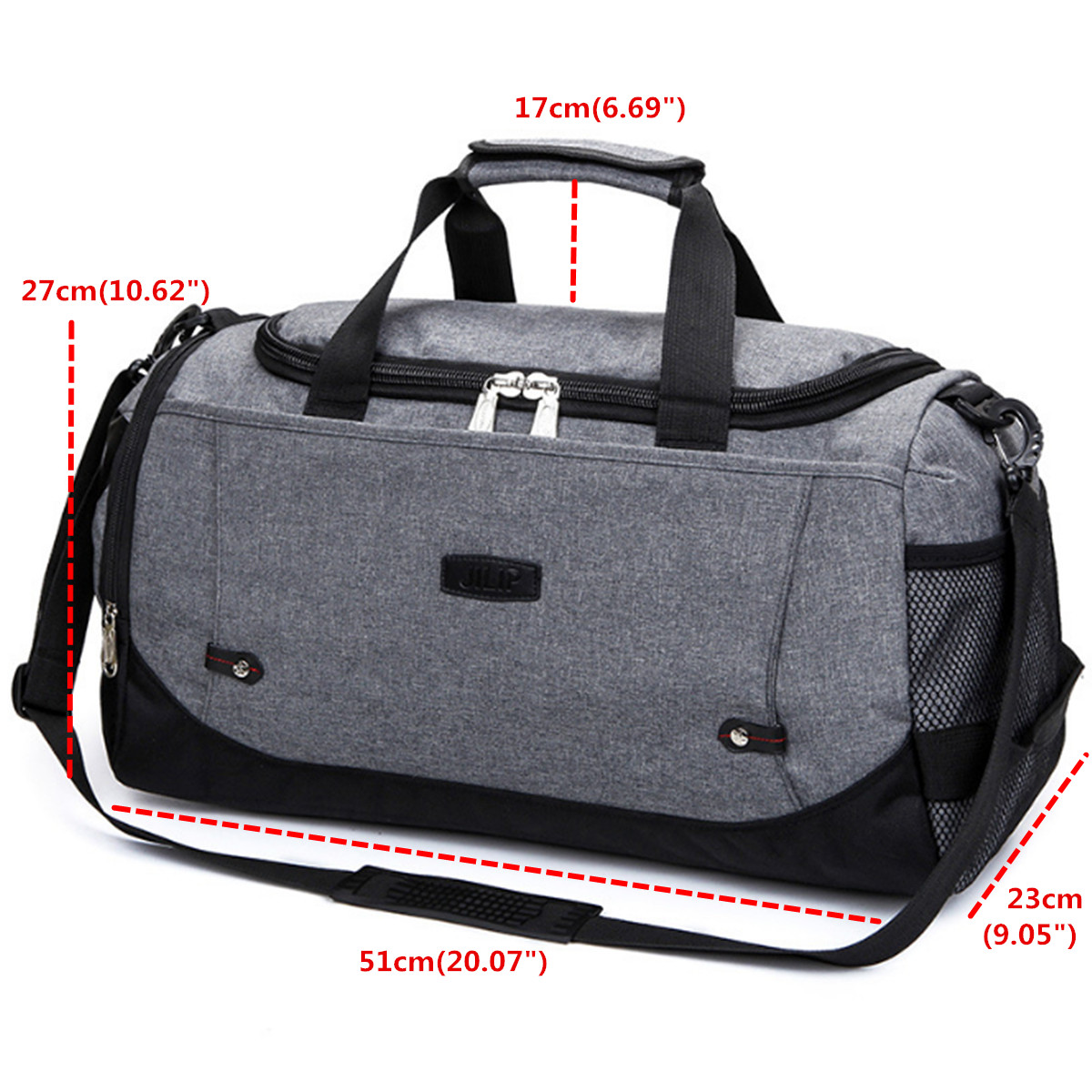 Gym Bag And Backpack: Waterproof Lock Travel With Shoes Compartment Handbag