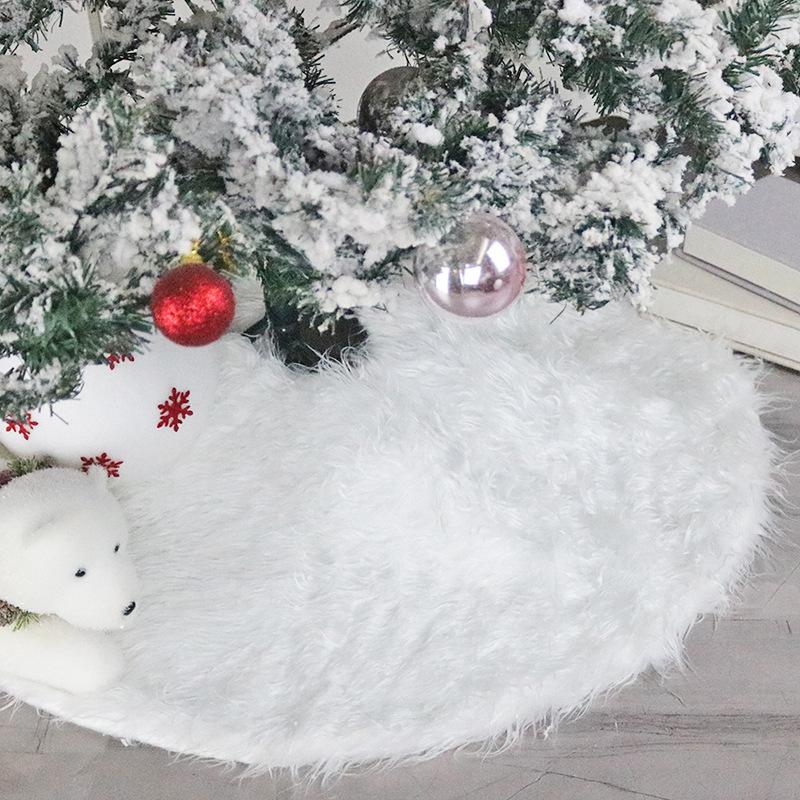 "31/"" Long Plush Christmas Tree Skirt Base Mat Cover Xmas Party Decor Ornament New"