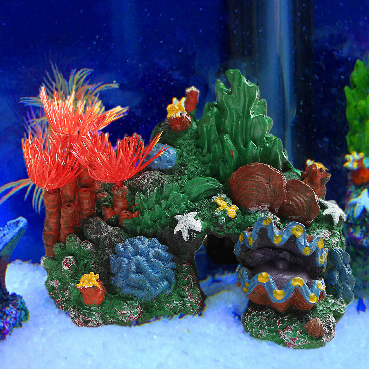 Resin coral reef mountain cave aquarium fish tank for Aquarium cave decoration