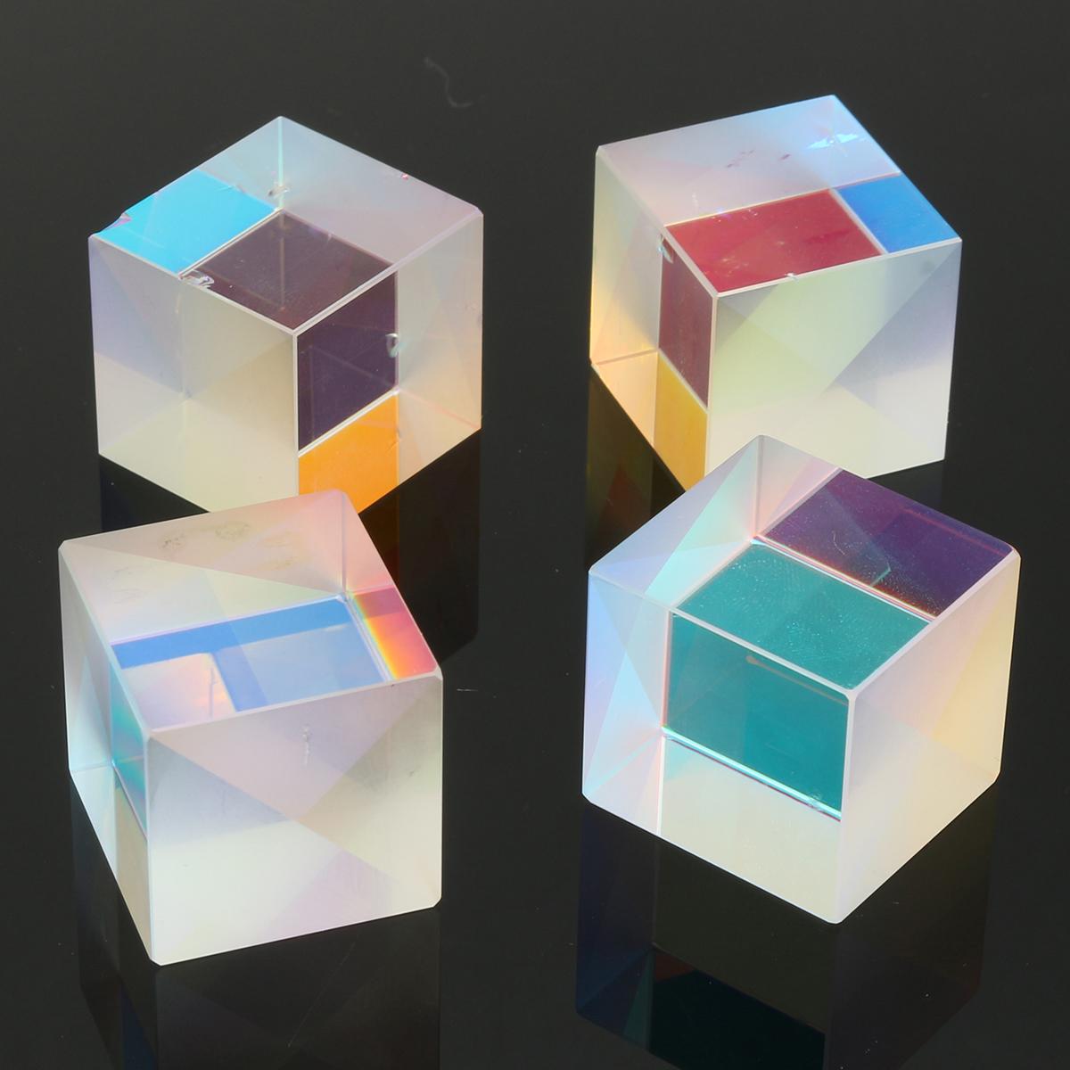 Optical-Glass-Triple-Triangular-Cube-Prism-Box-Physics-Teaching-Light-Spectrum thumbnail 14