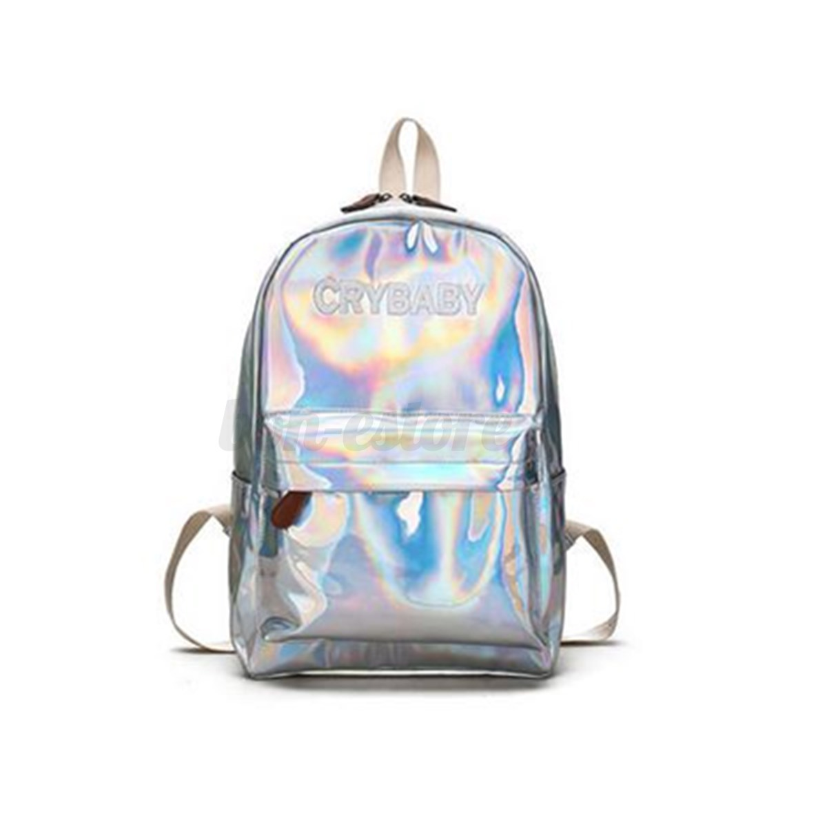 2018 Women Hologram Holographic Backpack Girl Laser Tote School ...