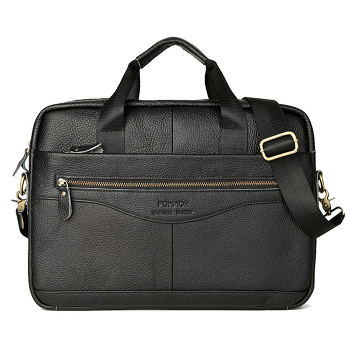 Men-Retro-Genuine-Cow-Leather-Handbag-Business-Briefcase-Messenger-Shoulder-Bag