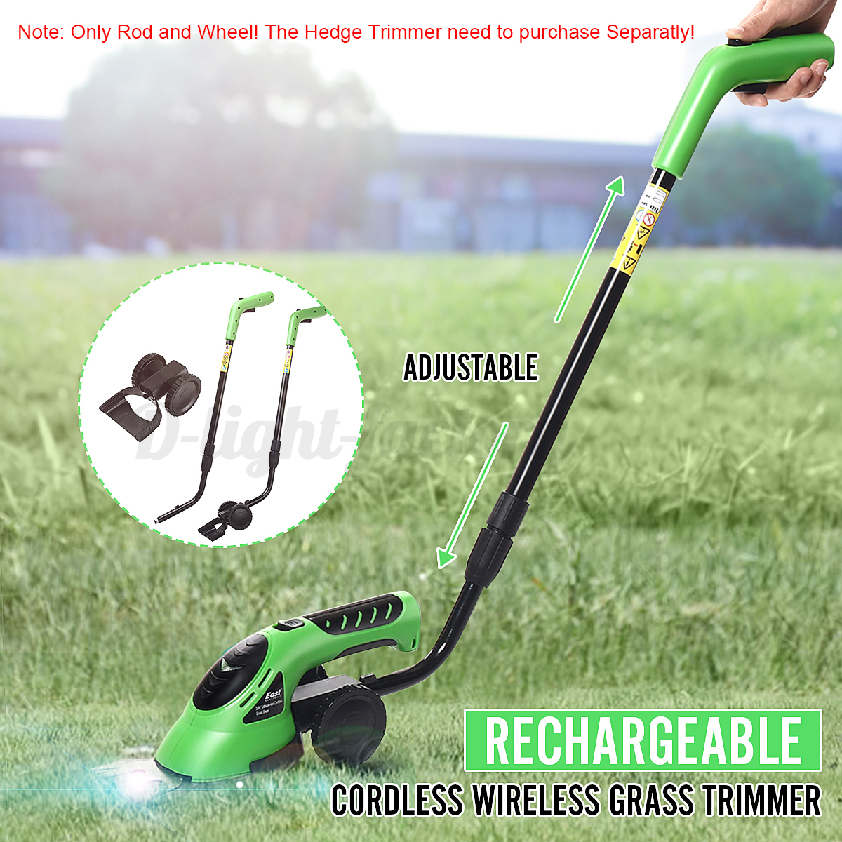 Cordless-Grass-Shear-Lawnmower-Garden-Pruning-Hedge-Trimmer-Rod-Wheel-Holder thumbnail 1