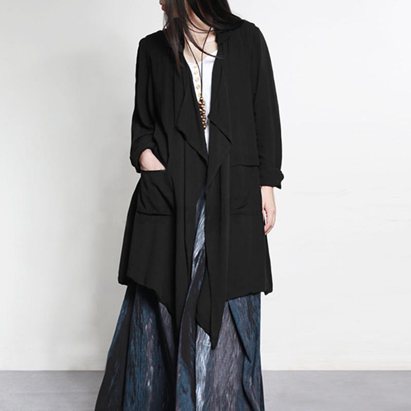 thumbnail 3 - ZANZEA-UK-Womens-Long-Sleeve-Solid-Cardigan-Turn-Down-Collared-Shirts-Top-Blouse