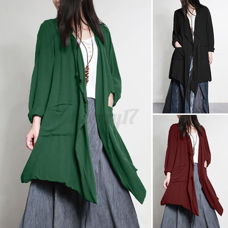 ZANZEA-UK-Womens-Long-Sleeve-Solid-Cardigan-Turn-Down-Collared-Shirts-Top-Blouse