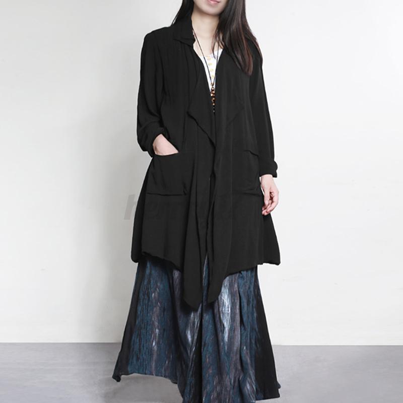 thumbnail 6 - ZANZEA-UK-Womens-Long-Sleeve-Solid-Cardigan-Turn-Down-Collared-Shirts-Top-Blouse