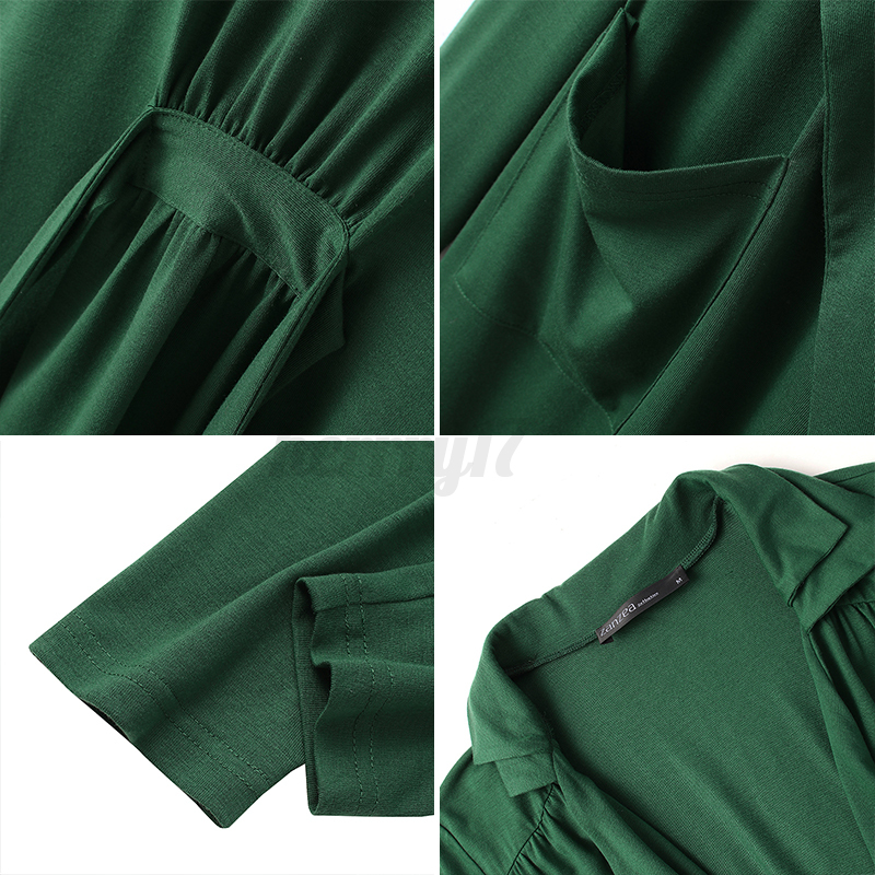 thumbnail 9 - ZANZEA-UK-Womens-Long-Sleeve-Solid-Cardigan-Turn-Down-Collared-Shirts-Top-Blouse