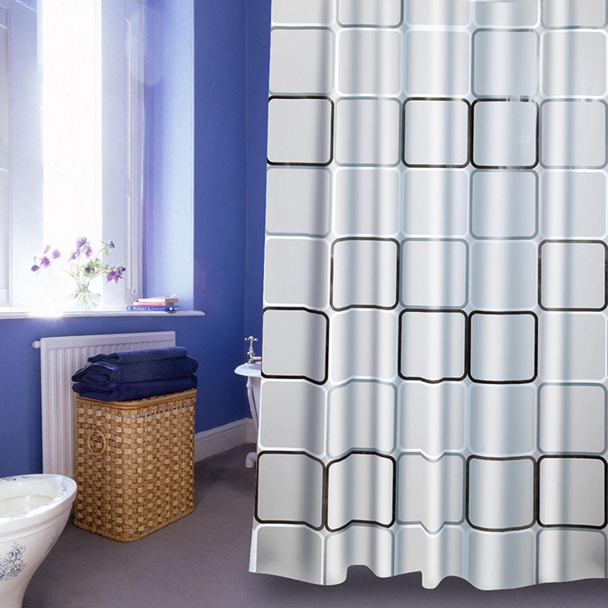 Details About 240cm Large Modern Waterproof Shower Curtain Polyethylene Bathroom Curtains Hook