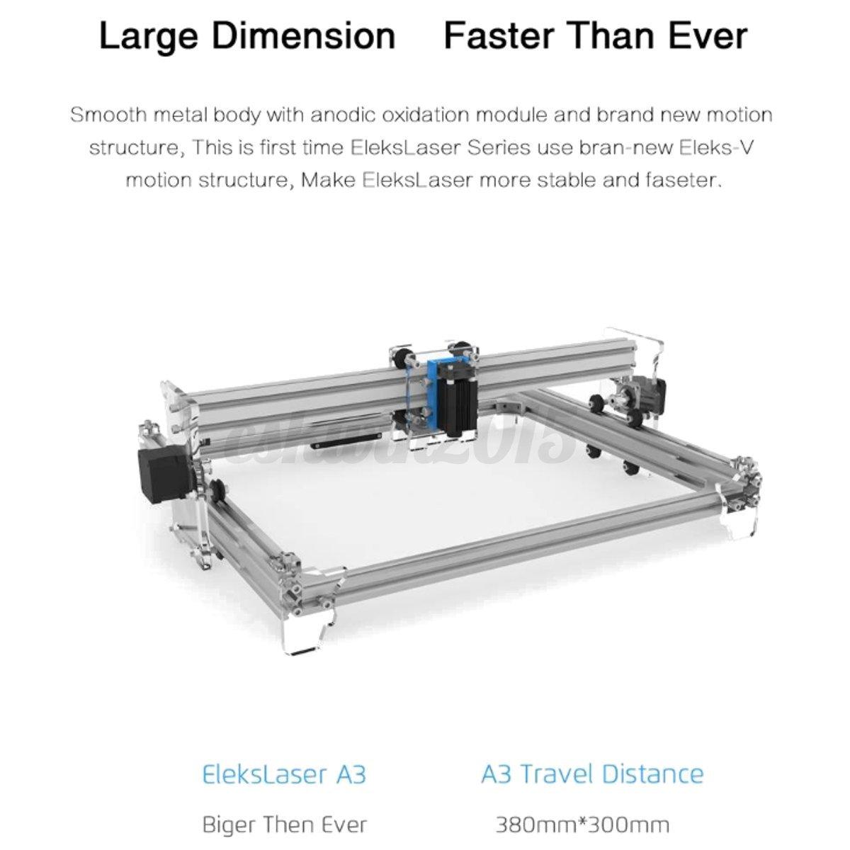 500 1600 2500 5500mw Elekslaser A3 Pro Laser Engraving