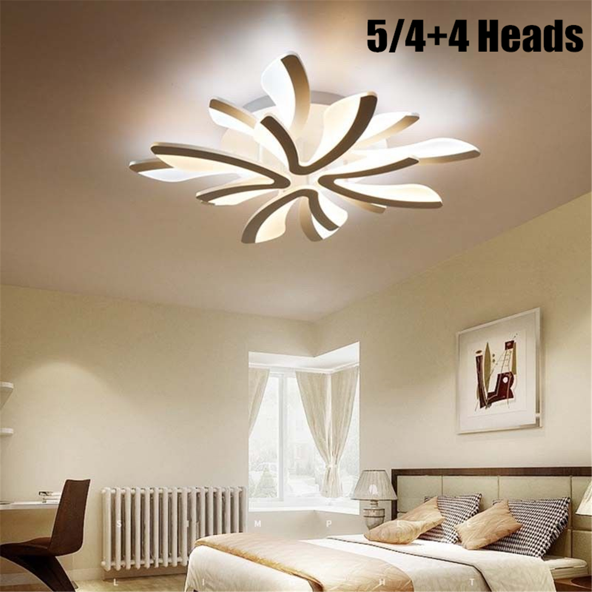 Details about 5/8 Head Dandelion Modern LED Acrylic Ceiling Light  Chandeliers Living Room