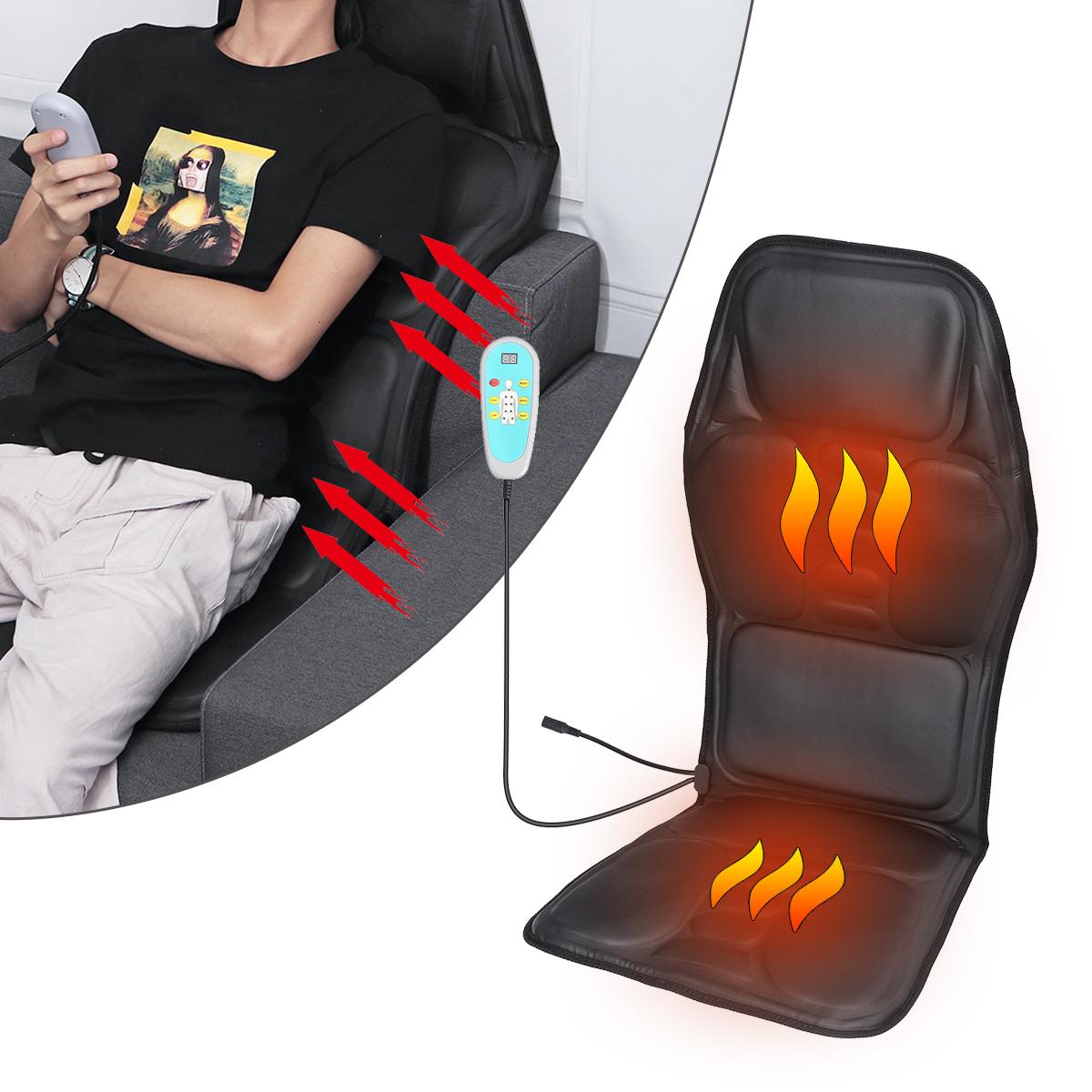 Autositz Leder Sitzauflage Vibration Körper Massage 9 Massage Zone 5 Stärke Heiz