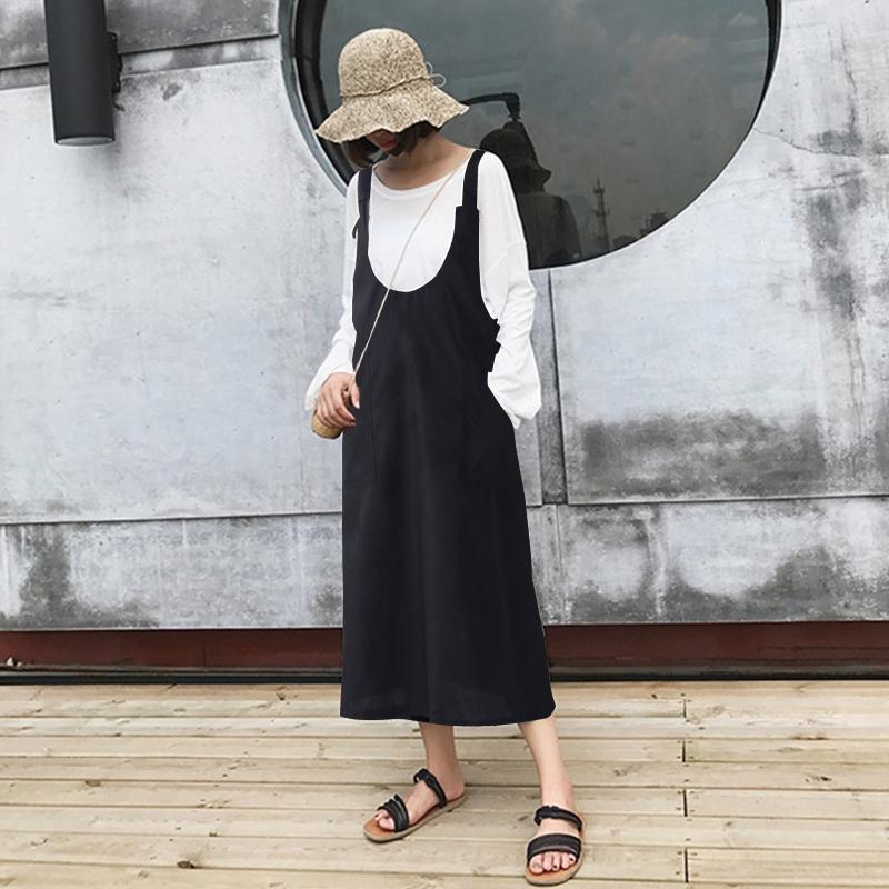ZANZEA-8-24-Women-Long-Midi-Sundress-Kaftan-Plus-Size-Dungarees-Overalls-Dress