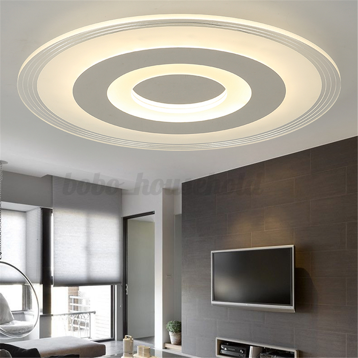 large round 15 19 inch ceiling light mounted fixture home living room lighting ebay. Black Bedroom Furniture Sets. Home Design Ideas