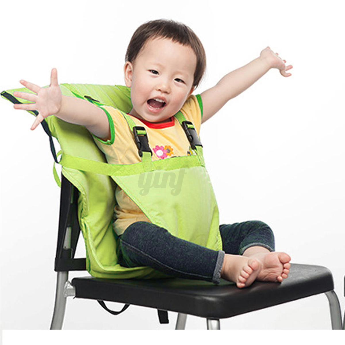 portable baby infant kids feeding high chair harness seat safety belt cover ebay. Black Bedroom Furniture Sets. Home Design Ideas