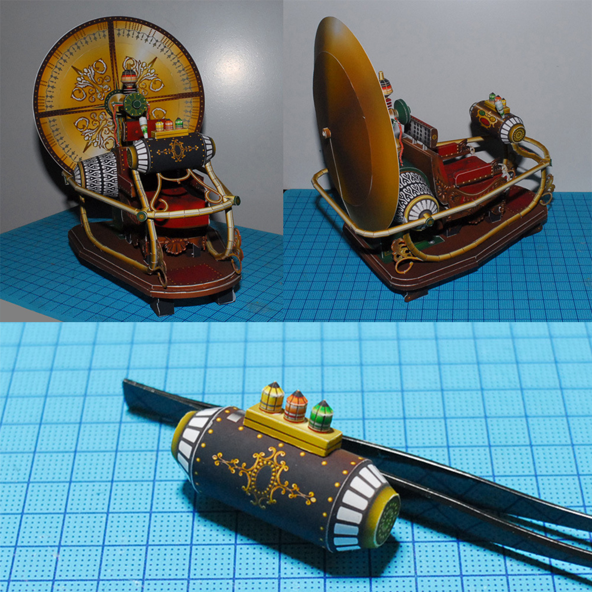 Model Kit long 25 cm 10 inches H G Wells Time Machine