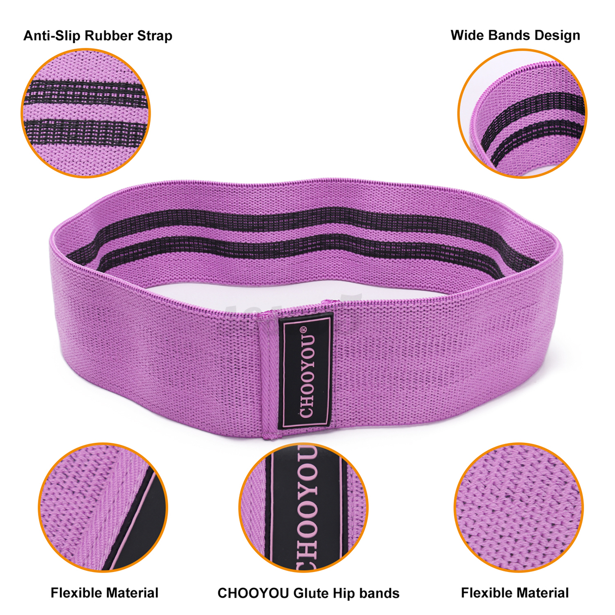 Fabric Resistance Bands Glute Hip Circle Non Slip Heavy Duty Booty Bands Fitness
