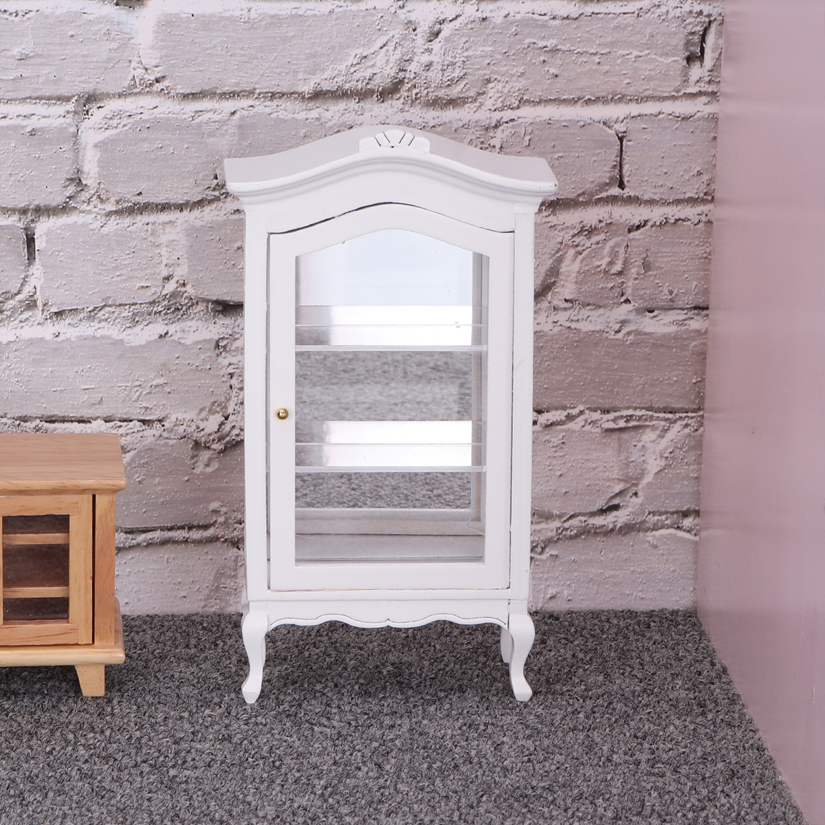 Dolls House Shelf With Miniature Toys for Children Room Doll Furniture 1:12