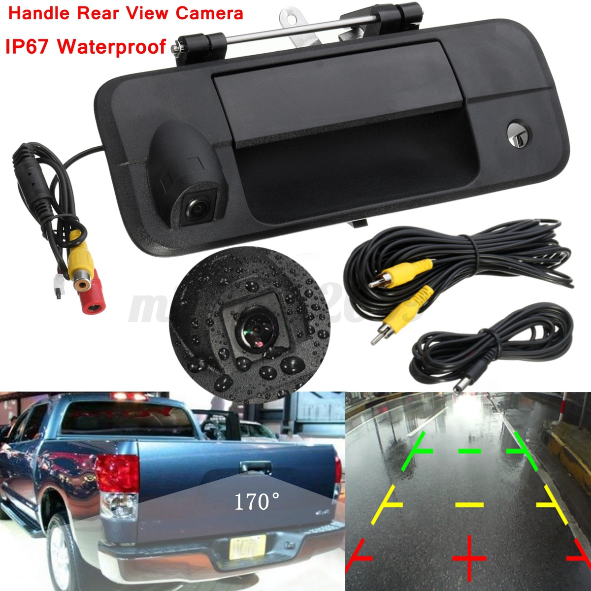 tailgate handle rear view backup camera night vision for. Black Bedroom Furniture Sets. Home Design Ideas