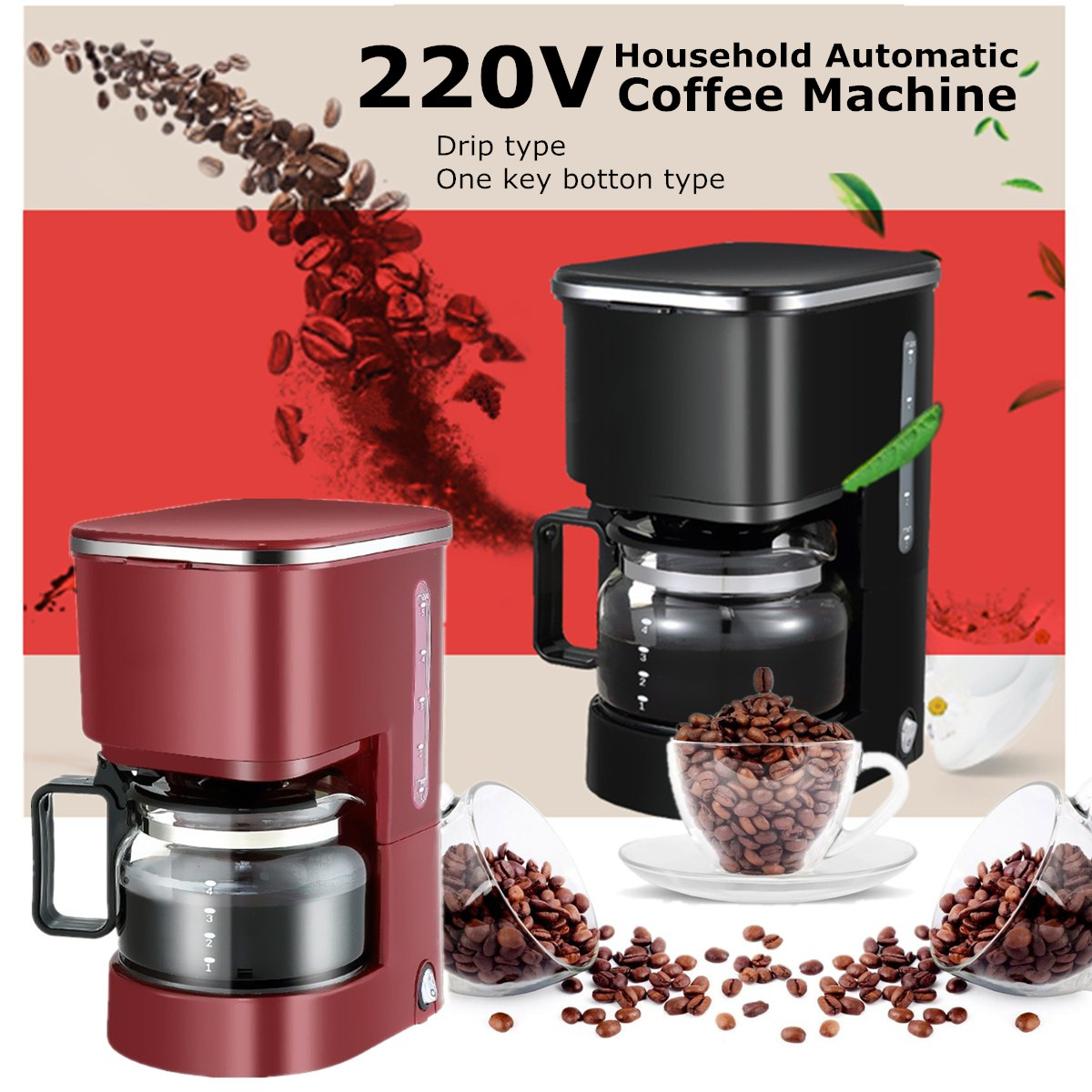 Automatic Drip Coffee Maker History : 220V 550W 750ml Household Fully Automatic Drip Americano Coffee Maker Machine eBay