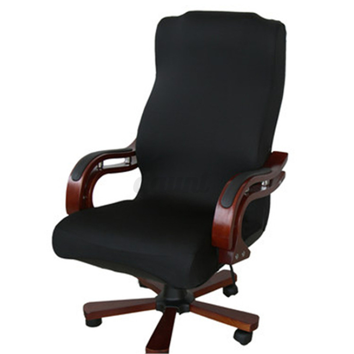 swivel computer chair cover stretch office armchair. Black Bedroom Furniture Sets. Home Design Ideas