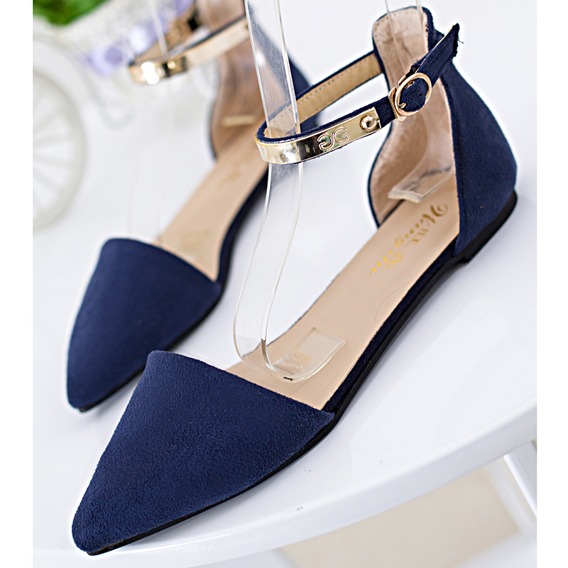 Black Flat Shoes Ankle Strap