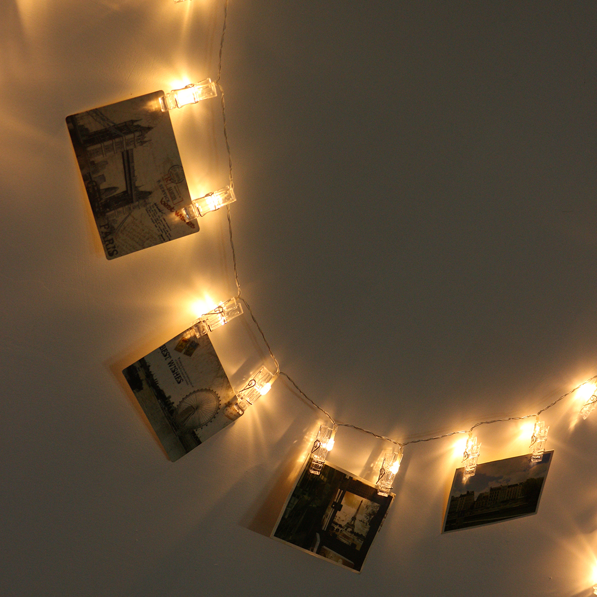 40 LED Hanging Picture Photo Peg Clip Fairy String Lights ...