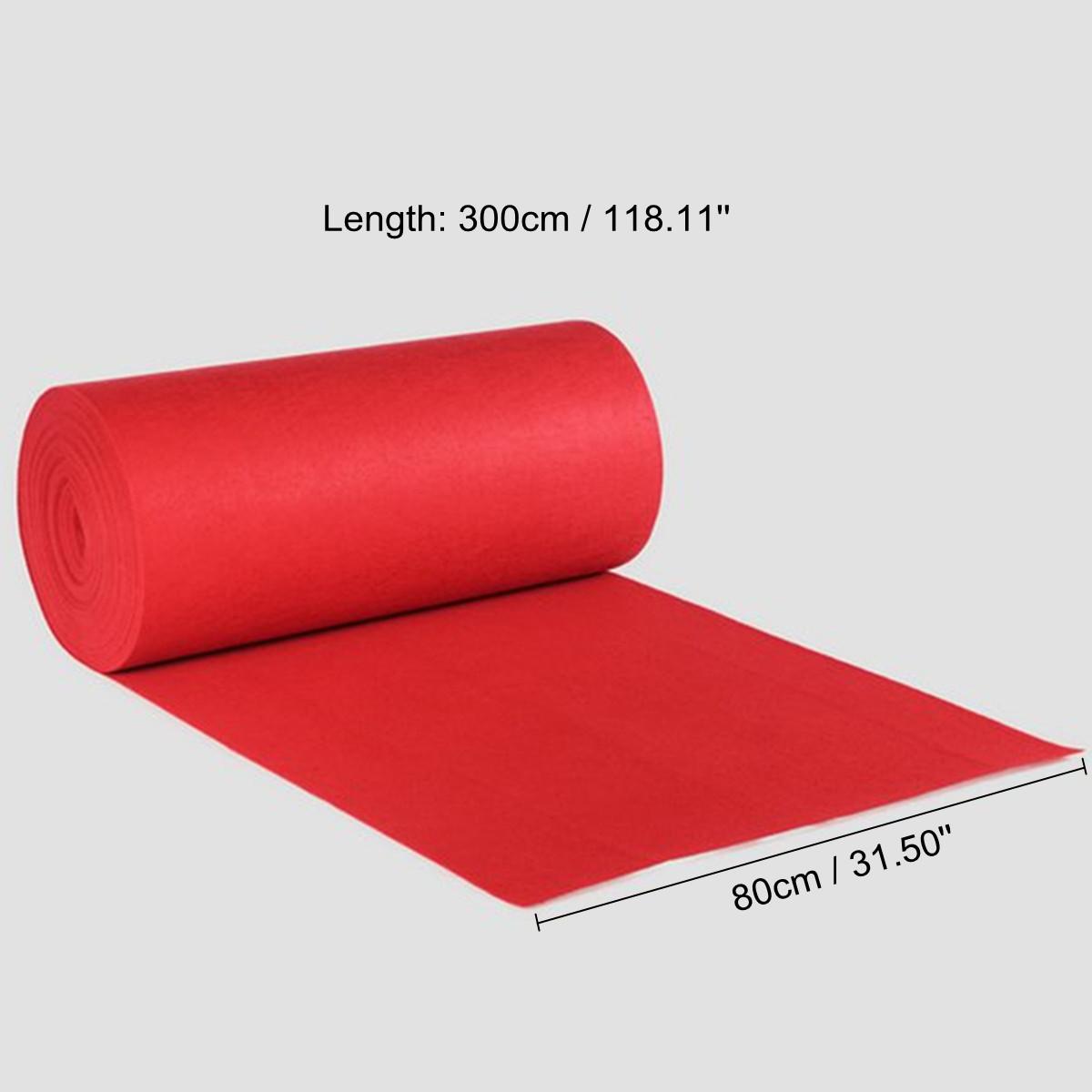 80x300cm Red Carpet Wedding Runners Aisle Floor Rug Festival Party Decoration !