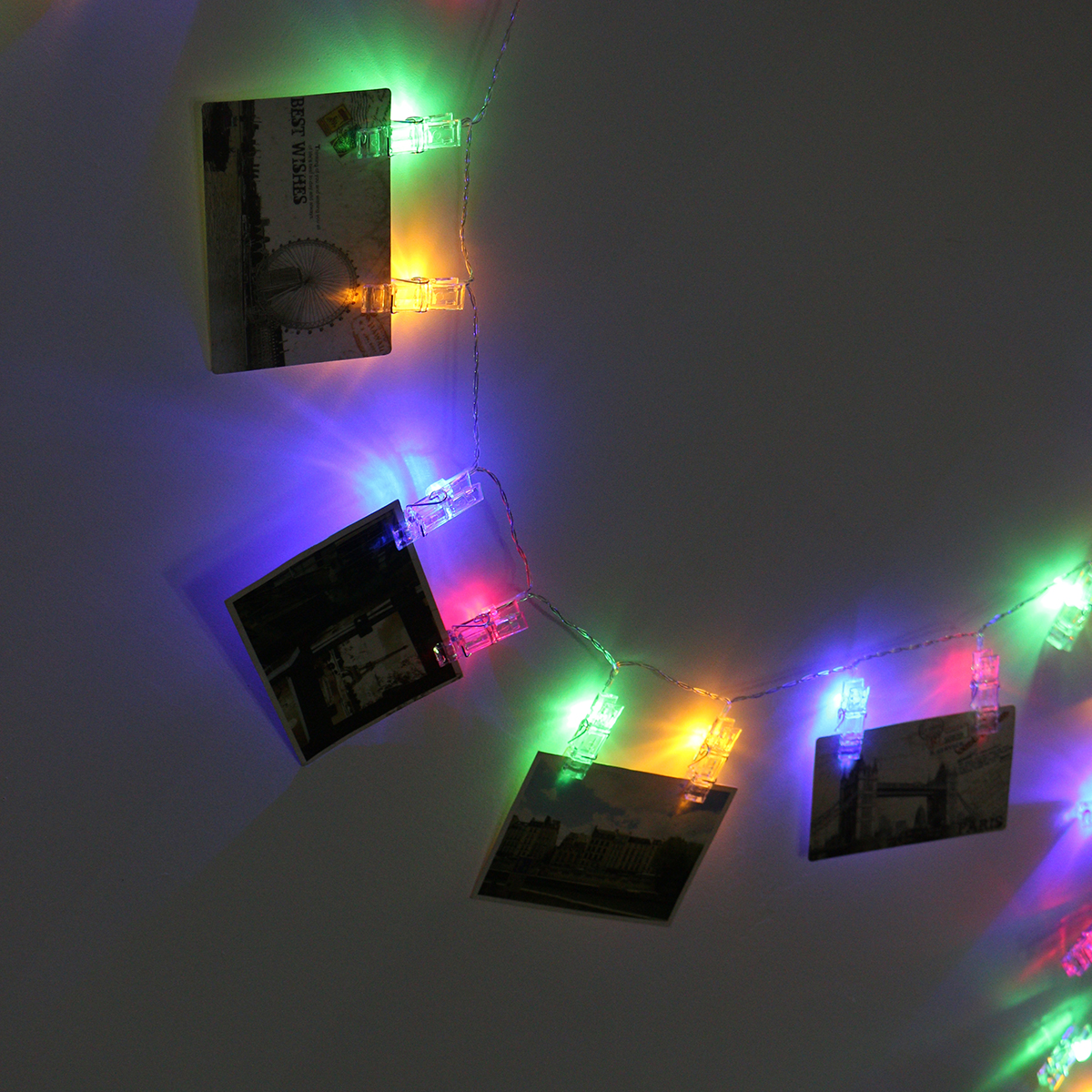40 LED Hanging Picture Photo Peg Clip Fairy String Lights Wedding Window Decor eBay
