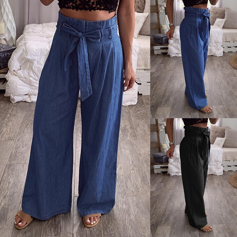 Womens Ladies Wide Leg Beach Summer Casual Cullotte Palazzo 3//4 Holiday Trousers