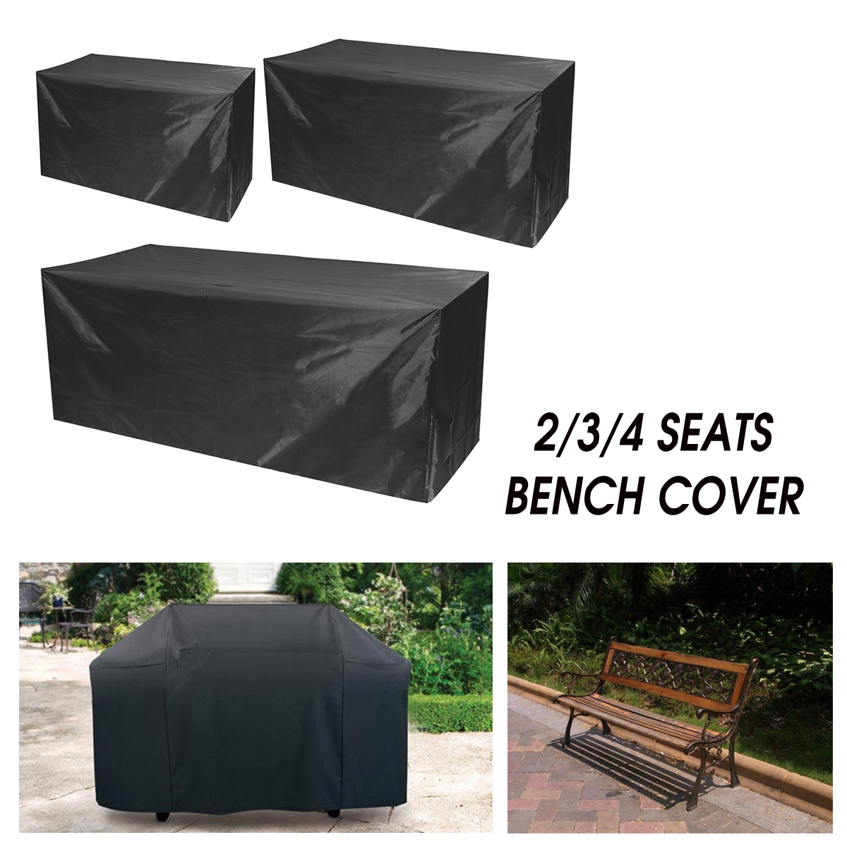 Waterproof Furniture Sofa Bench Table Chair Cover 2//3//4 Seaters Garden Outdoor