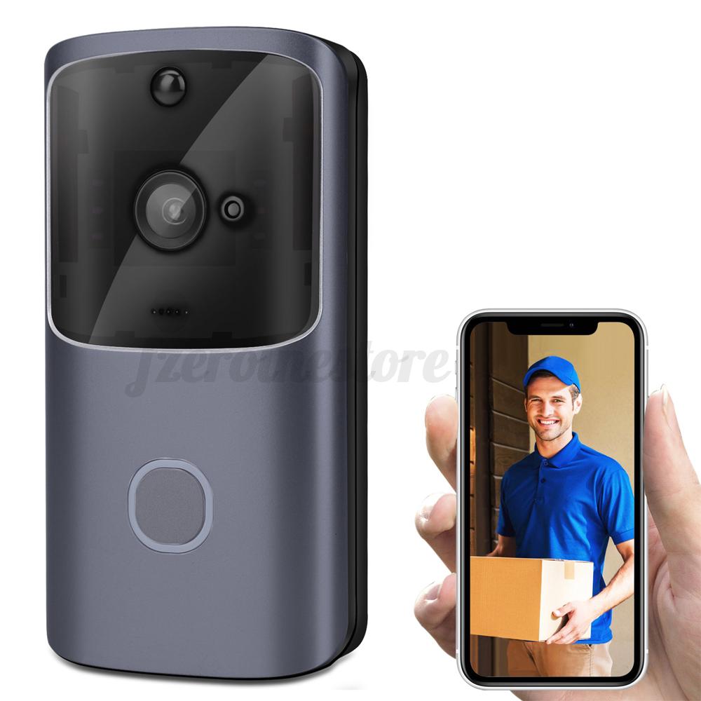 Timbre-Inalambrico-Wifi-Video-de-dos-vias-de-hablar-inteligente-Timbre-De-Puerta-Seguridad-Camara-HD miniatura 8