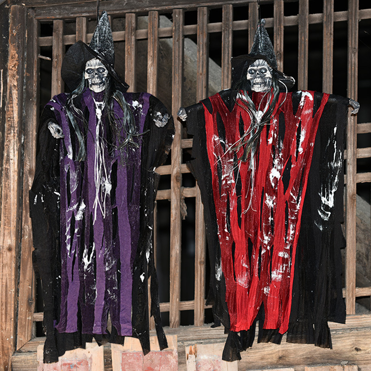 HALLOWEEN PROP HANGING Ghost Witch Scary Haunted House Bar