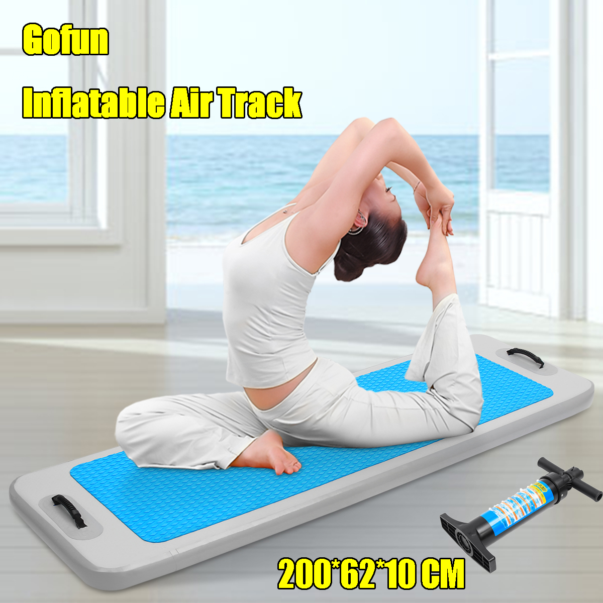 Inflatable Air Track GYM Gymnastics Home Water Buoyancy Tumbling Mat wPump AU