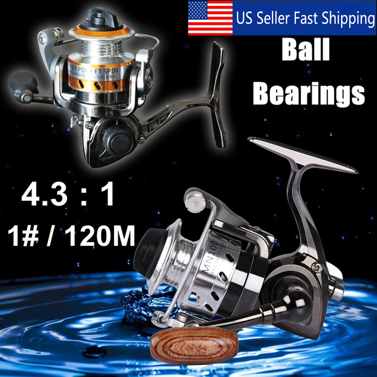 Mini Fishing Reel Metal Coil Ultra Light Small Spinning Reel